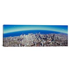 Panoramic Aerial View of Chicago, Illinois Photographic Print on Canvas