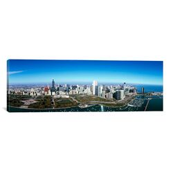 Panoramic Aerial View of Millennium Park in Chicago, Illinois Photographic Print on Canvas