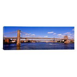 Panoramic Brooklyn Bridge, New York Photographic Print on Canvas