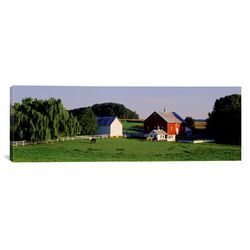 Panoramic Farm, Baltimore County, Maryland Photographic Print on Canvas