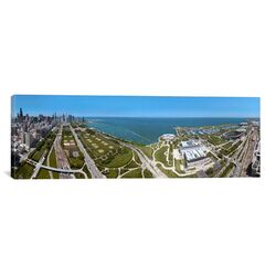 Panoramic 180 Degree View of a City, Lake Michigan, Chicago, Cook County, Illinois, USA 2009 ...