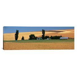 Panoramic Farm Saint John, Washington State Photographic Print on Canvas
