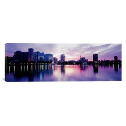 Panoramic Lake Eola in Orlando, Florida Photographic Print on Canvas