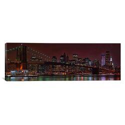 Panoramic Jane's Carousel at the Base of the Brooklyn Bridge, New York City Photographic Print ...