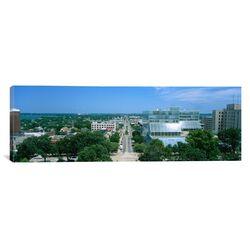 Panoramic E. Washington Ave, Madison, Wisconsin Photographic Print on Canvas