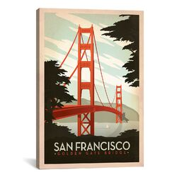 Golden Gate Bridge - San Francisco, California by Anderson Design Group Vintage Advertisement ...