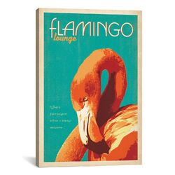 'Flamingo Lounge' by Anderson Design Group Vintage Advertisement on Canvas