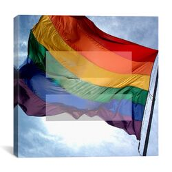 Equality Sign, Equal Rights Symbol with Rainbow Flag Graphic Art on Canvas