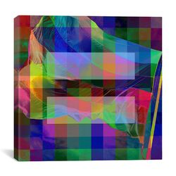 Equality Sign, Equal Rights Symbol with Rainbow Pixelated Flag Graphic Art on Canvas