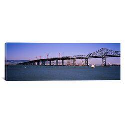 Panoramic Bay Bridge, Treasure Island, Oakland, California Photographic Print on Canvas
