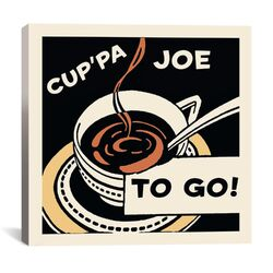 Cup'Pa Joe To Go Advertising Vintage Poster