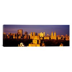Panoramic Central Park, Manhattan, New York City, New York State Photographic Print on Canvas