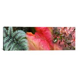 Panoramic Diagonal Foliage Photographic Print on Canvas