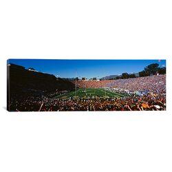 Panoramic Panoramic Rose Bowl Stadium, Pasadena, California Photographic Print on Canvas