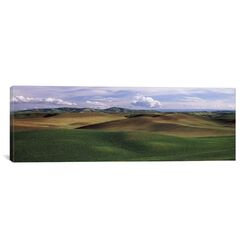 Panoramic Clouds over a Rolling Landscape, Palouse, Whitman County, Washington State ...