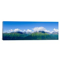 Panoramic 'Mountain Range, Chugach Mountains, Anchorage, Alaska, USA' Photographic Print on Canvas