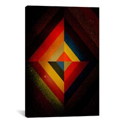 Modern Art Mid Century Modern Diamond Color Composition ll (after Kandisnky) Graphic Art on ...