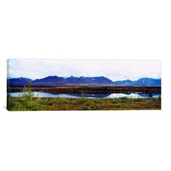Panoramic Mountain McKinley and Denali National Park, Alaska Photographic Print on Canvas