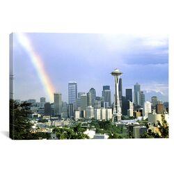 Panoramic Rainbow, Seattle, Washington Photographic Print on Canvas