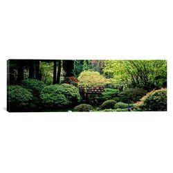 Panoramic Japanese Garden, Portland, Oregon Photographic Print on Canvas