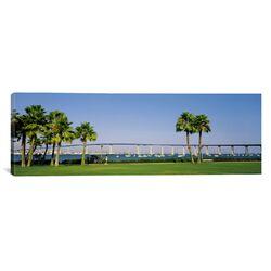 Panoramic Coronado Bay Bridge, San Diego, California Photographic Print on Canvas