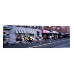 Panoramic New York City Marathon, New York City Photographic Print on Canvas
