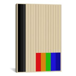Modern Art Rainbow Silo Graphic Art on Canvas