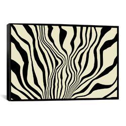 Modern Art Zebra Print Graphic Art on Canvas