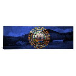 Flags New Hampshire Mount Wonalancet Farm Panoramic Graphic Art on Canvas