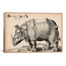 Rhinoceros by Enea Vico Graphic Art on Canvas