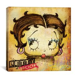 Retro Betty Boop Canvas Wall Art