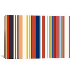 Retro Hemptons Striped Graphic Art on Canvas