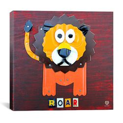 Roar the Lion From Design Turnpike Collection Canvas Wall Art