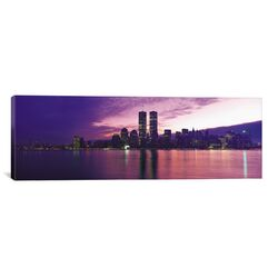 Panoramic New York Skyline Cityscape Photographic Print on Canvas in Sunset