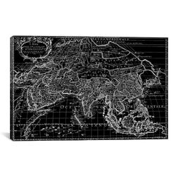 Antique Map of Asia (1687) by Giovanni Giacomo De Rossi Graphic Art on Canvas in ...
