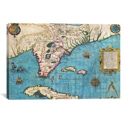 'Antique Maps of Florida and Cuba' by Jacques Le Moyne De Morgues Graphic Art on ...