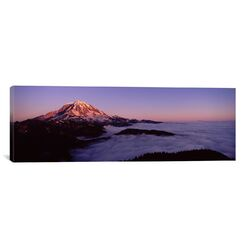Panoramic Sea of Clouds with Mountains in the Background, Mount Rainier, Pierce County, ...