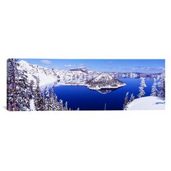 Panoramic Oregon, Crater Lake National Park Photographic Print on Canvas