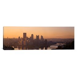 Panoramic Pennsylvania, Pittsburgh, Allegheny and Monongahela Rivers, View of the Confluence of ...