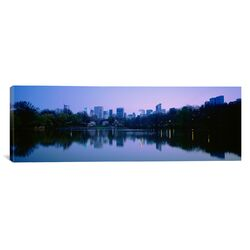 Panoramic New York State, New York City, Central Park Lake, Skyscrapers in a City Photographic ...