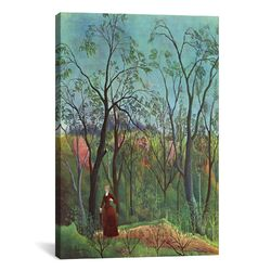 'The Walk in the Forest (Am Waldrand) 1886' by Henri Rousseau Painting Print on Canvas ...