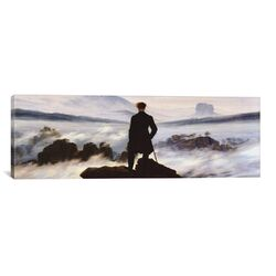 'The Wanderer Above the Sea of Fog' by Caspar David Friedrich Painting Print on Canvas ...