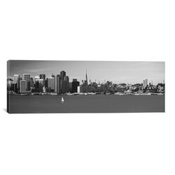 Panoramic 'San Francisco Panoramic Skyline Cityscape ( Black and White)' Photographic Print on ...