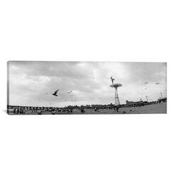 Panoramic Coney Island, Brooklyn, New York City, New York State Photographic Print on Canvas