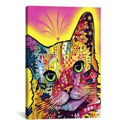 'Tilt Cat' by Dean Russo Graphic Art on Canvas