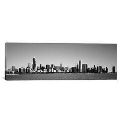 Panoramic 'Skyscrapers at the Waterfront, Willis Tower, Chicago, Cook County, Illinois' ...