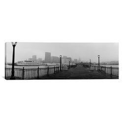 Panoramic Street Lamps on a Bridge, San Francisco, California Photographic Print on Canvas
