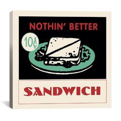 Sandwich Advertising Vintage Poster