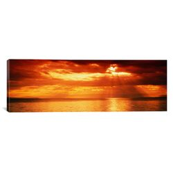 Panoramic Sunset, Lake Geneva, Switzerland Photographic Print on Canvas