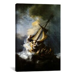 'The Storm on The Sea of Galilee' by Rembrandt Painting Print on Canvas
